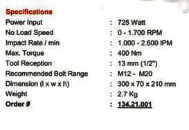 ... milwaukee13421001--impact-wrench-12-725-w-ipwe-400